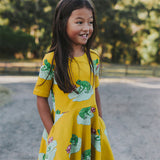 Oomph & Floss Echo The Green Tree Frog Dress