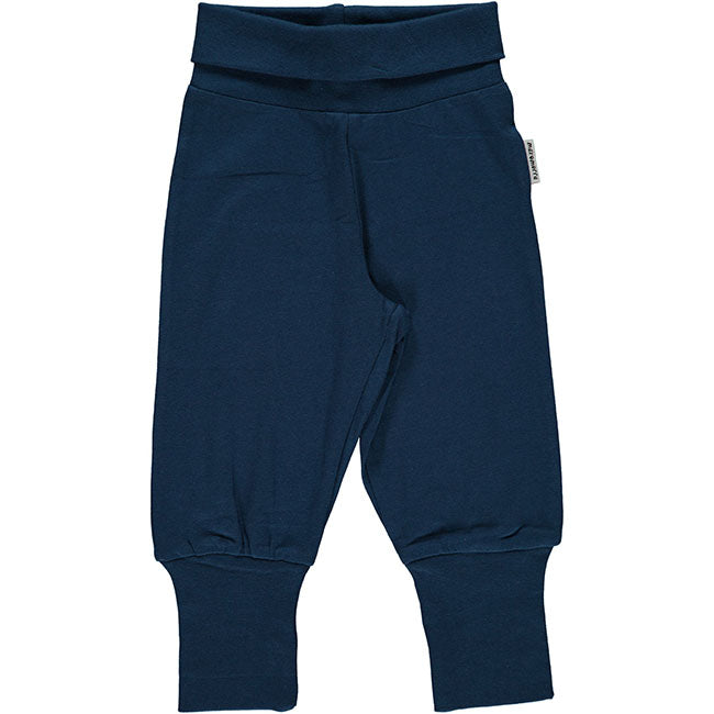 Maxomorra Dark Blue Rib Pants
