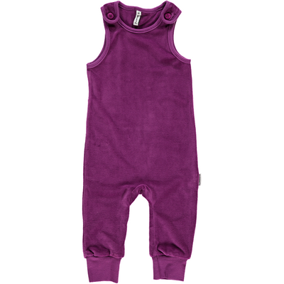 Maxomorra Purple Velour Playsuit