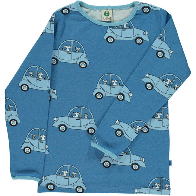 Smafolk Driving Dog Top - Blue