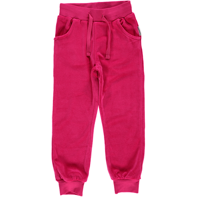 Maxomorra Regular Pink Velour Pants