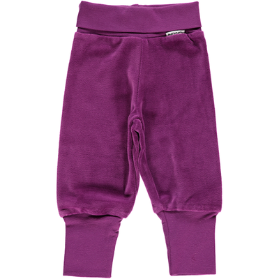 Maxomorra Purple Rib Velour Pants