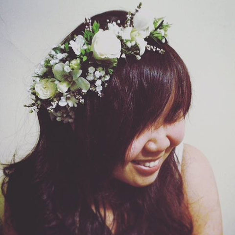 SW0003 - Orchid and lisianthus flower crown
