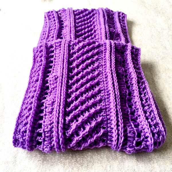SCA0019- Purple scarf