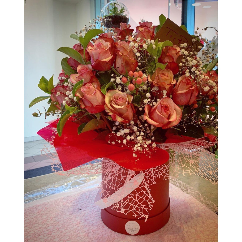 BB0002 - Elegant roses in box