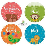 LovelySprouts Monthly Baby Stickers - 24 Pack