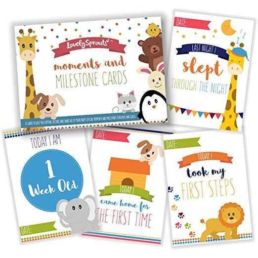 LovelySprouts Moments & Milestone Baby Cards