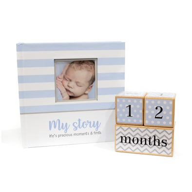Baby Shower Collection - Blue Book and Blue Blocks