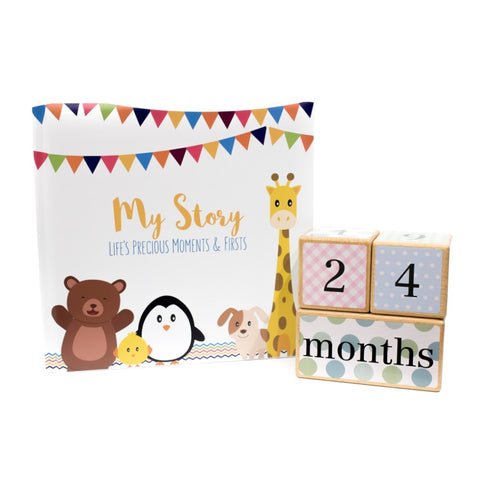 Baby Shower Collection - Gender Neutral - Book and Blocks