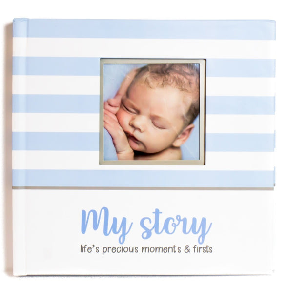 LovelySprouts Baby Memory Book, Blue