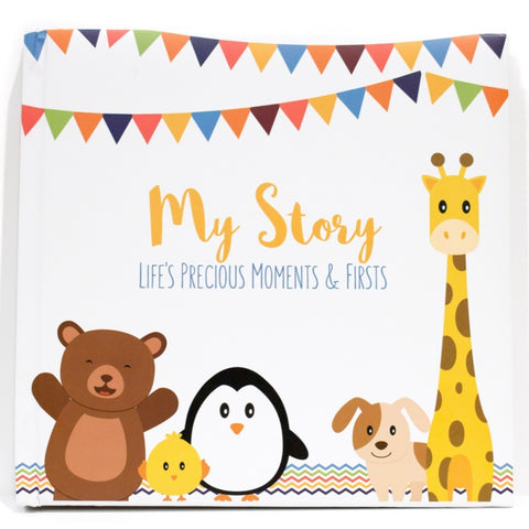 LovelySprouts Baby Memory Book, Little Animals