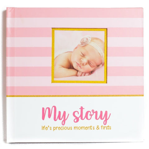 LovelySprouts Baby Memory Book, Pink