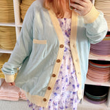 Two Color Blank Knitted Cardigan!