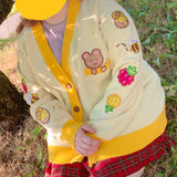 Honey Bear Knitted Cardigan! *PREORDER*