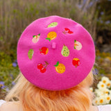Animal Crossing Fruits Embroidered Beret!