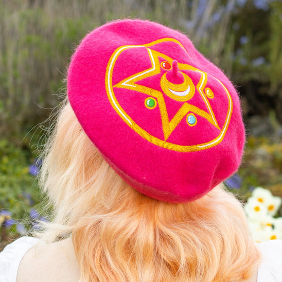 Crystal Star Embroidered Beret!