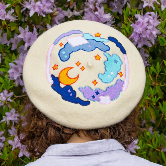 MEYOCO x CLAMMY HEART Starry Sky Embroidered Beret