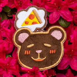 Dreaming Pizza Bear Embroidered Patch!