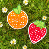 Smile Berry Embroidered Patch!