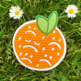 Sad Orange Embroidered Patch!