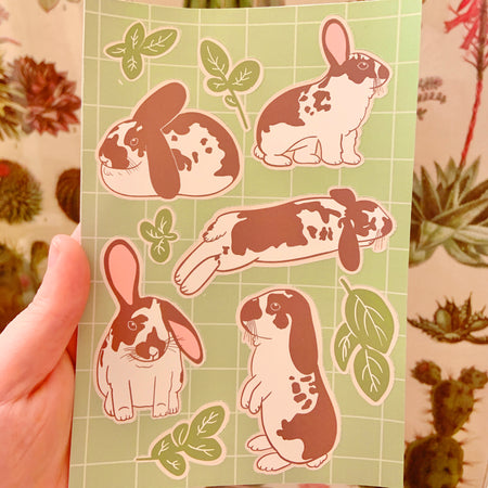 Basil the Bunny Vinyl Sticker Sheet!