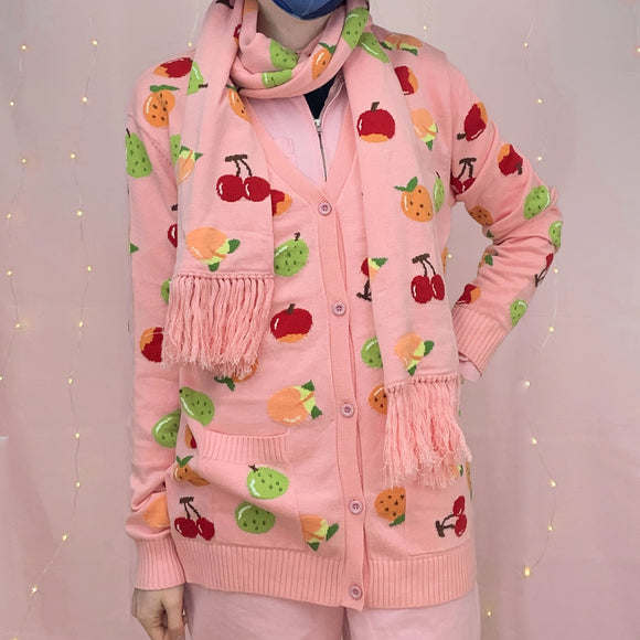 Animal Crossing Fruits Knitted Cardigan!