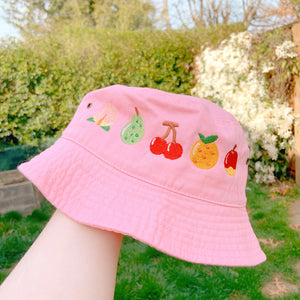 Animal Crossing Fruits Embroidered Bucket Hat! IN STOCK 6/6