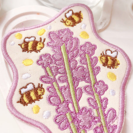 Lavender & Bees Embroidered Patch!