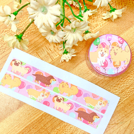 Dog Parade Washi Tape!