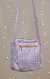 Lavender Sprigs Plaid Side Bag!