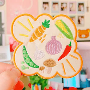 Mixed Veggies Embroidered Patch!