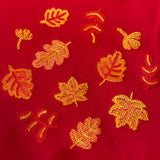 Autumn Leaves Embroidered Crew Neck Sweatshirt!