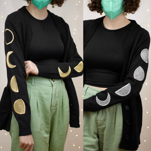 Moon Phases Embroidered Cardigan! *PREORDER*