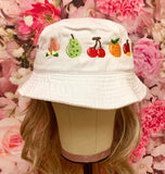 Animal Crossing Fruits Embroidered Bucket Hat!