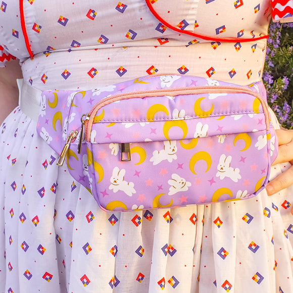 Moon Bunnies Fanny Pack! *PINK ZIPPERS*
