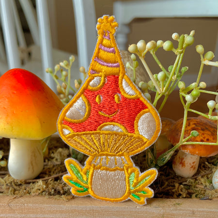 Party Mushroom Embroidered Patch!