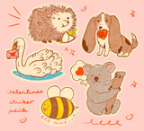 Valentine's Vinyl Sticker Pack!