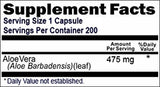 Aloe Vera Capsules Supplement 200 Count