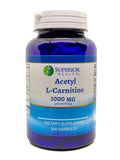 Acetyl L-Carnitine Supplement 1000mg Per Serving 200 Capsules (ALCAR) 100 Servings