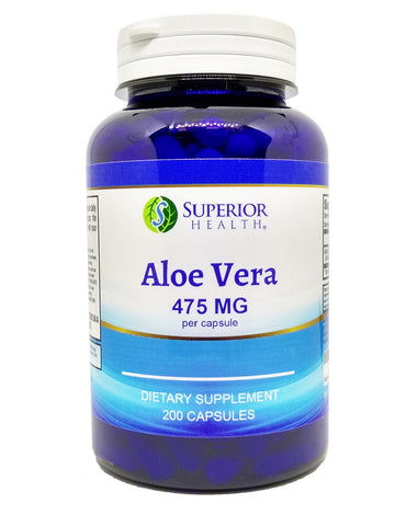 Aloe Vera Capsules Supplement 475 mg 200 Count