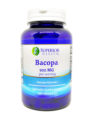 Bacopa Monnieri Supplement 180 Capsules 3 Month Supply