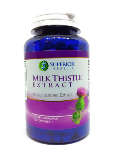 Milk Thistle 4:1 Extract 1000mg Silymarin 200 Capsules