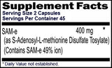 SAM-e 400 mg Per Serving 90 Capsules for 45 Day Supply