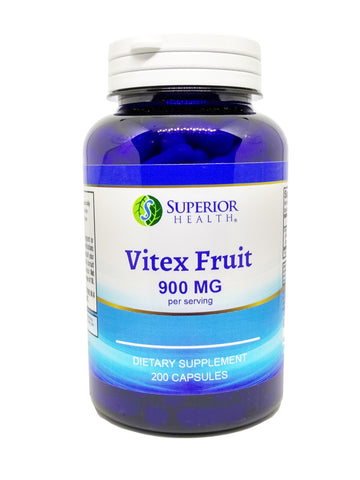 Vitex Chaste Berry Fruit Extract 900 mg 200 Caps