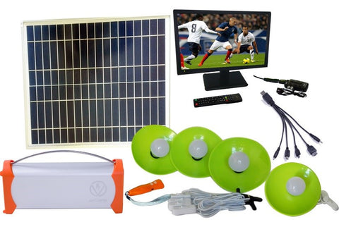 Solar TV Entertainment Systems Package-2-28W