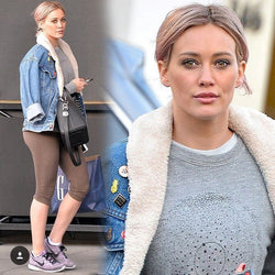 Hilary Duff wearing Ex Bf Star Circle sweatshirt