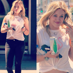 Hilary Duff in Abby Flamingo Tank