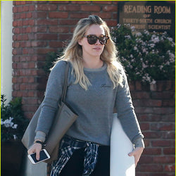 Hilary Duff wearing the Wolf 'Forever' Sweathshirt