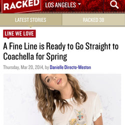 Featured on LA Racked March 2014