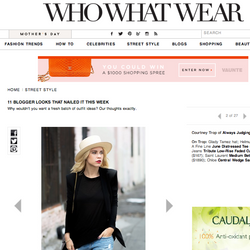 'June' tee worn by Courtney Trop on WHO WHAT WEAR